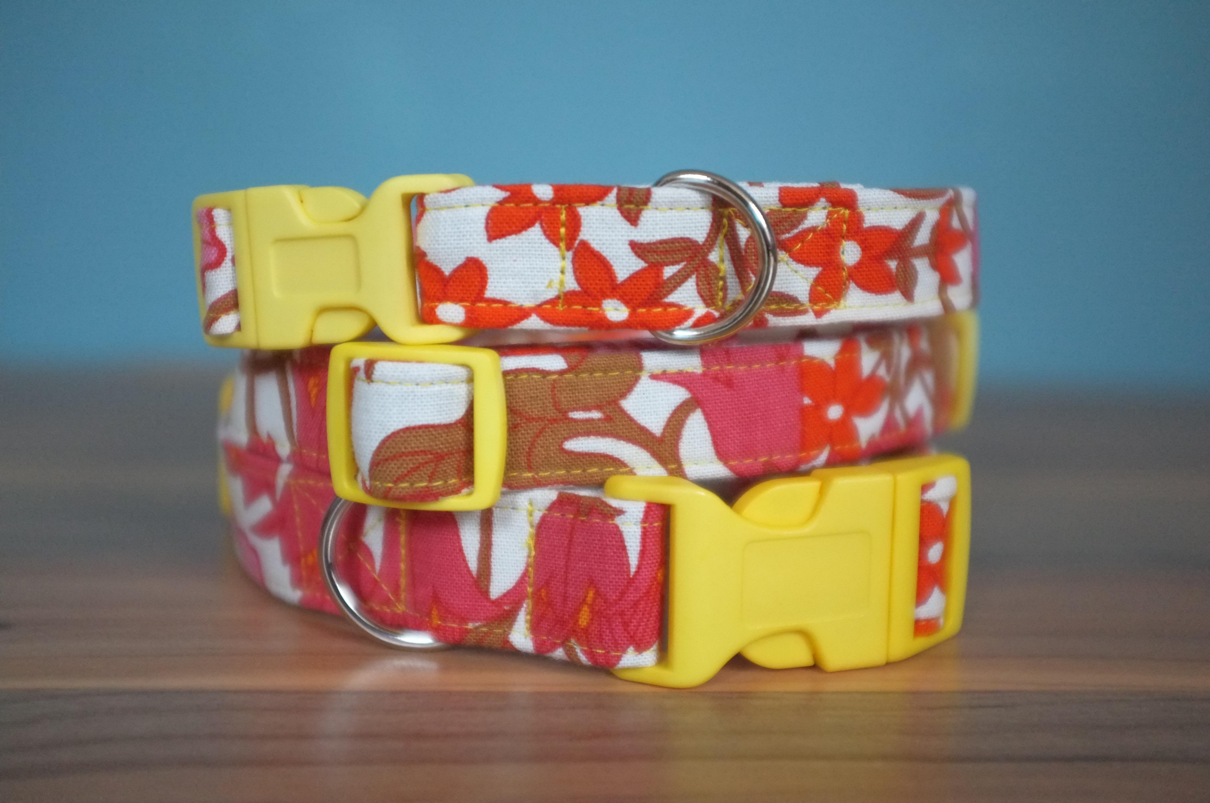 Belle fabric dog collar