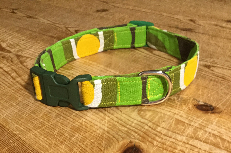 Cecil fabric dog collar