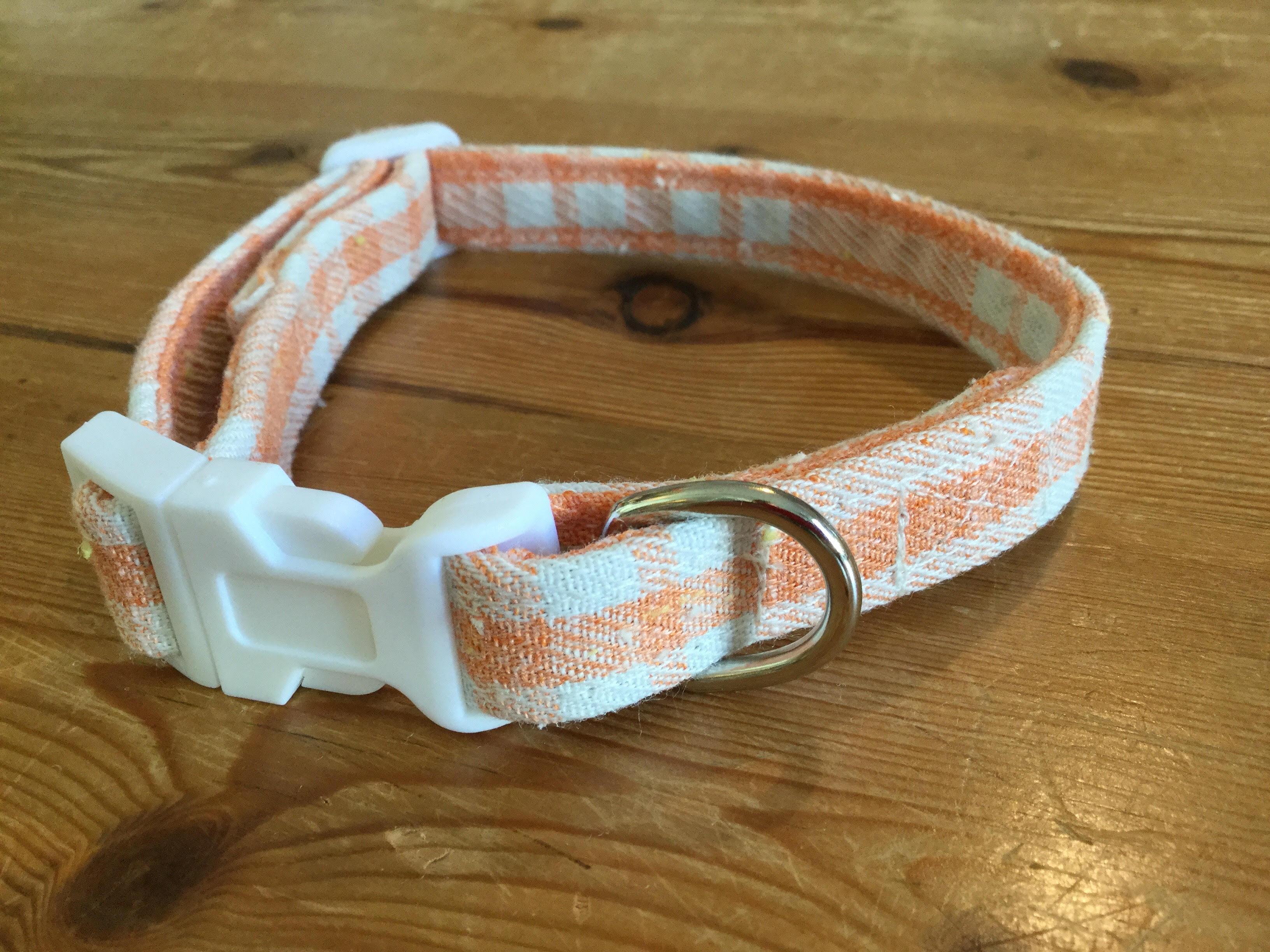 Ethel fabric dog collar
