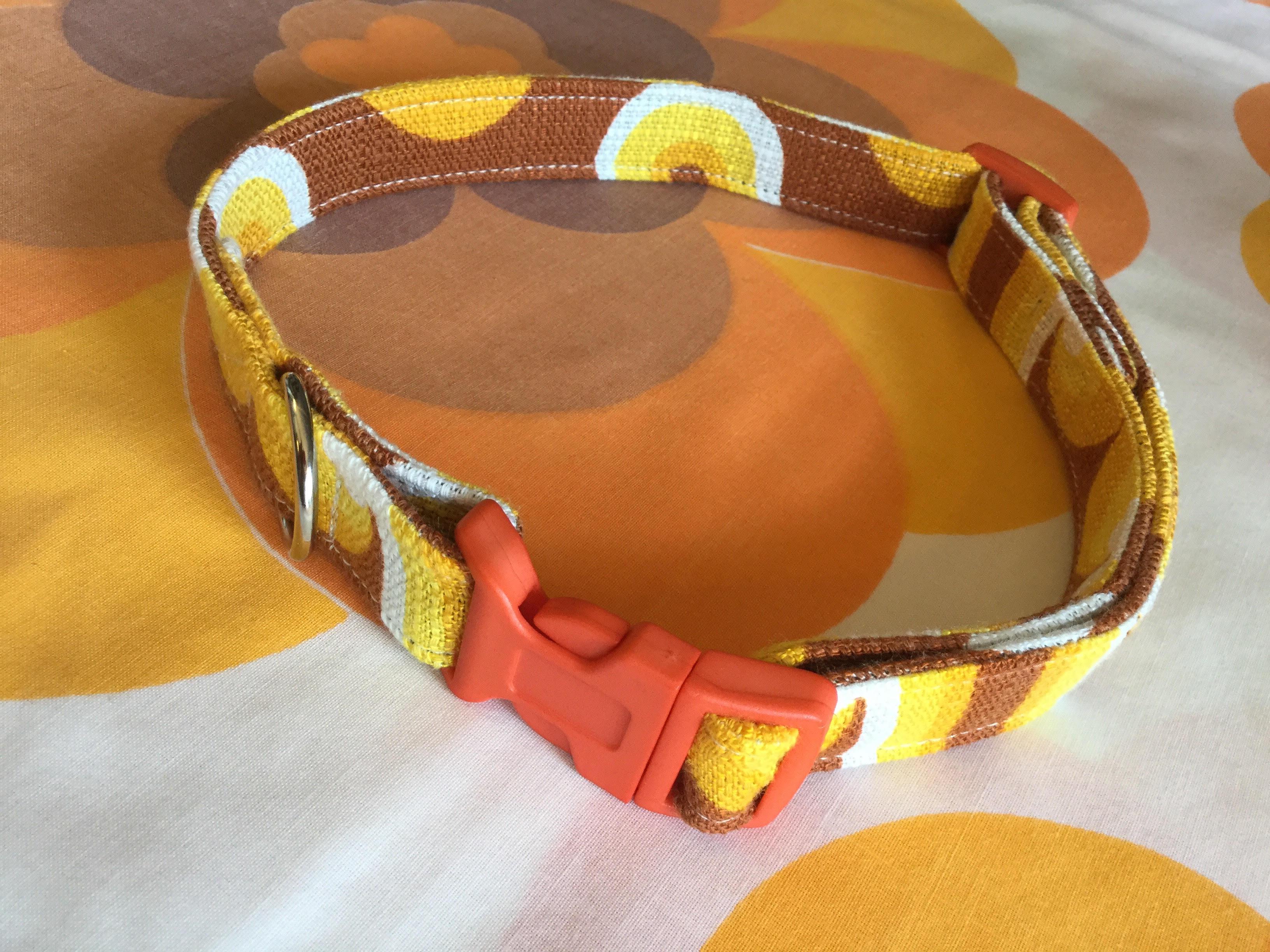 Peggy fabric dog collar