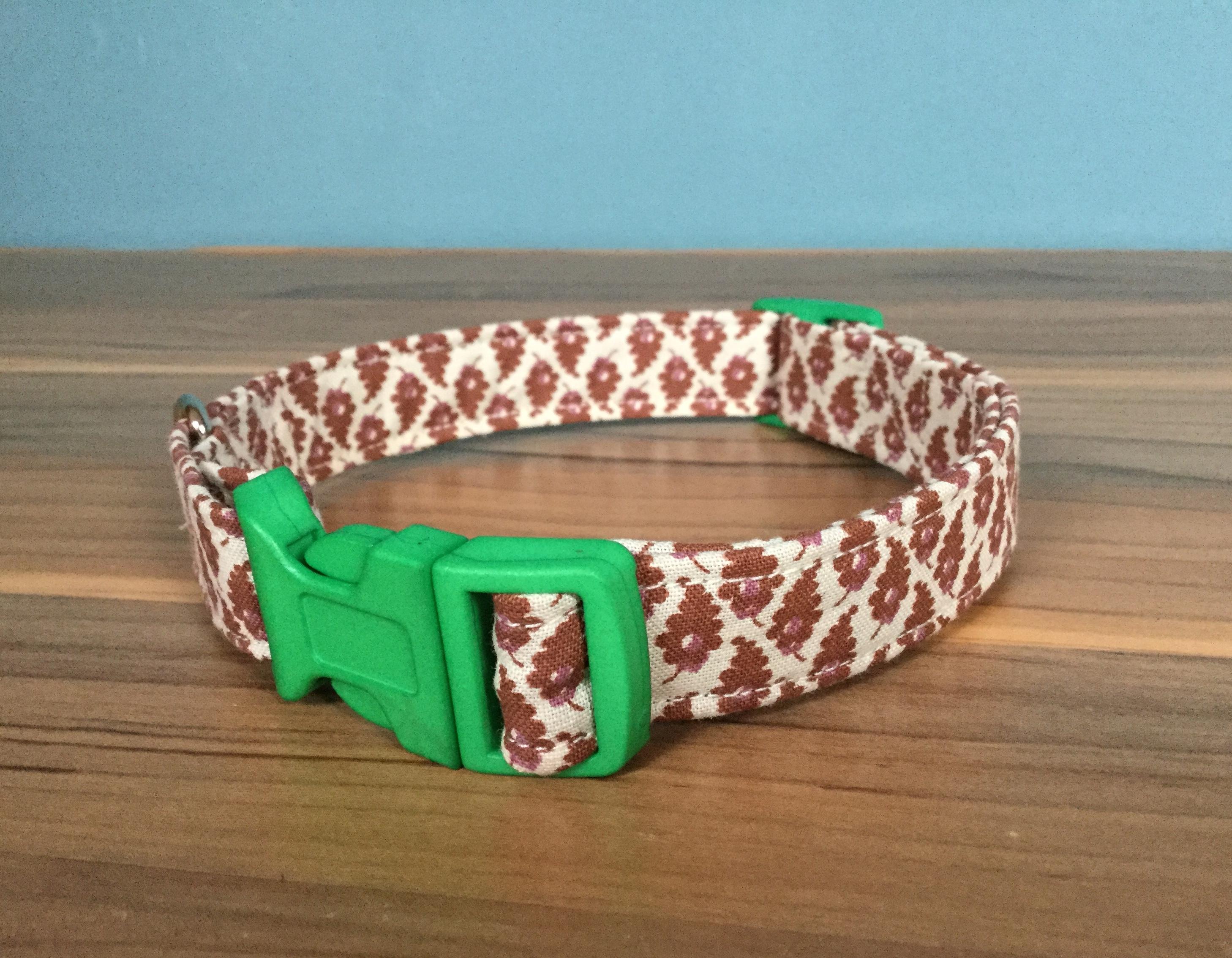 Edward fabric dog collar