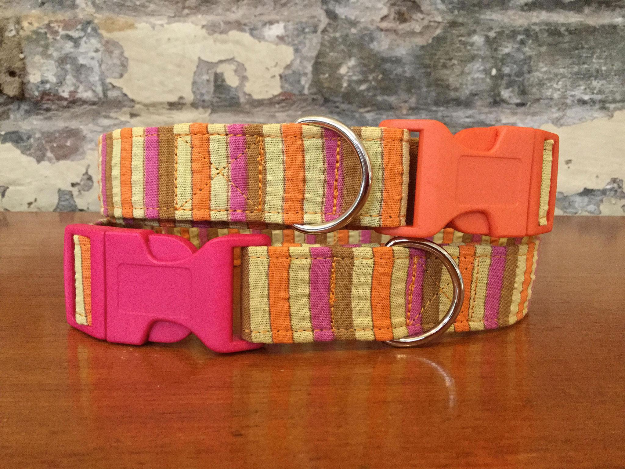Elsie fabric dog collar