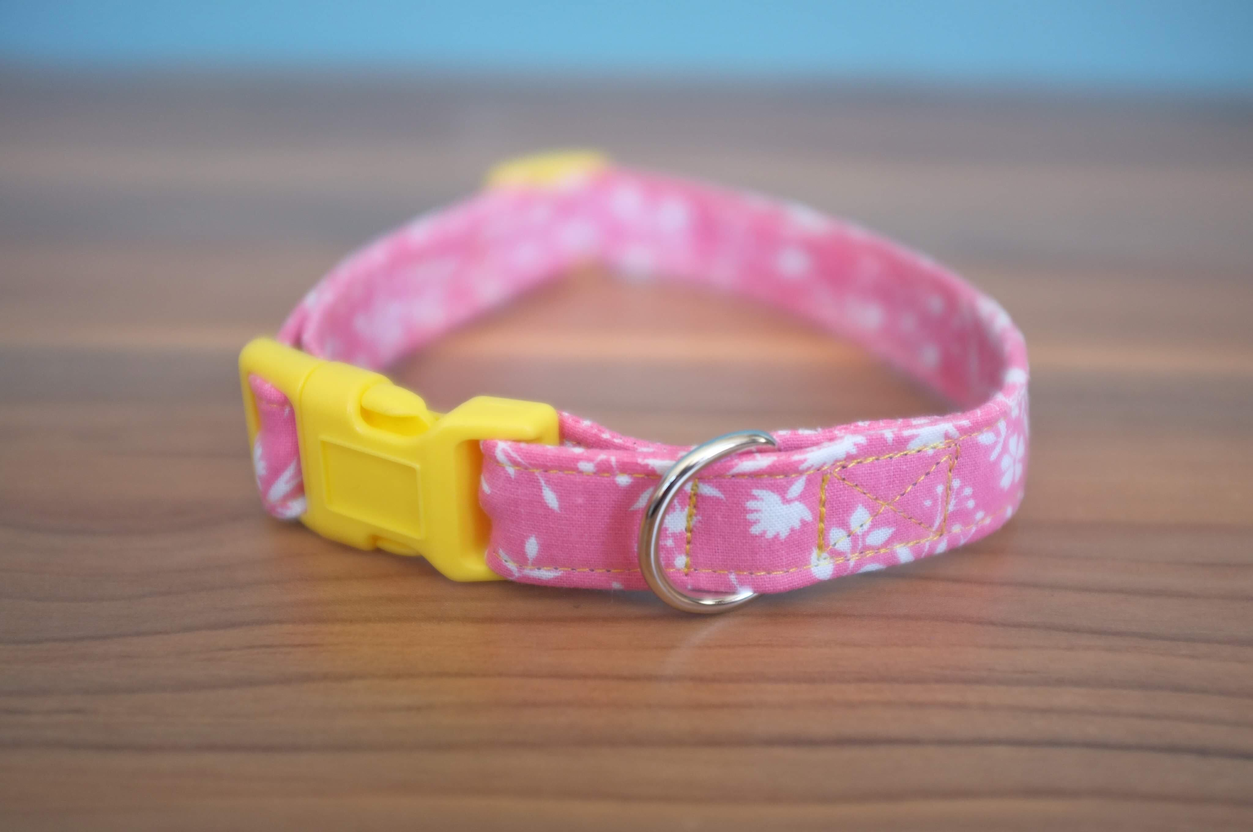Priscilla fabric dog collar
