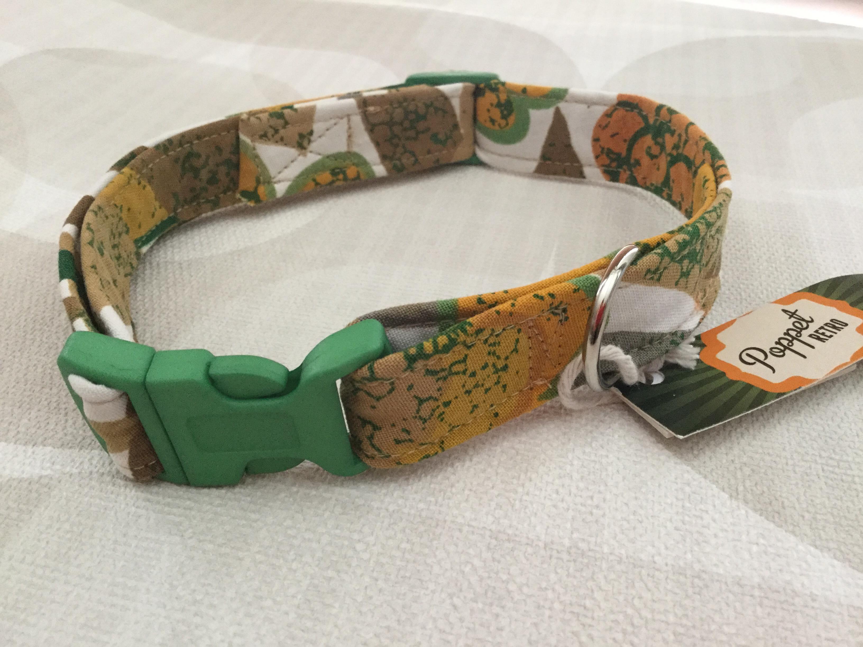 Sandy fabric dog collar